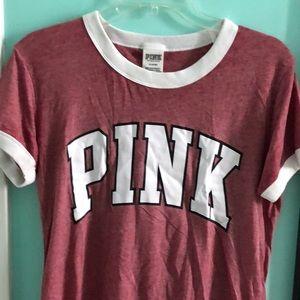 Pinkish red burgundy pink brand T-shirt